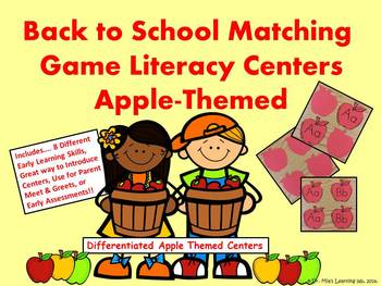 Apple Themed Letters, Numbers, and Colors Literacy Centers