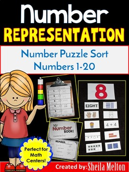 Back to School Numbers 1-10 (Math Center Activity)