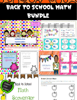 Back to School Math Bundle