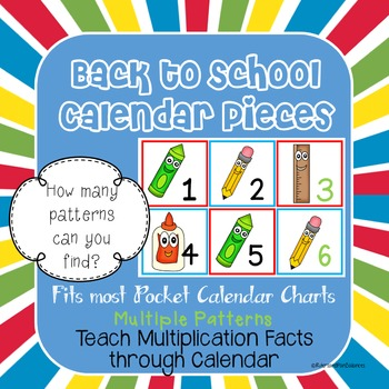 Back to School Math Calendar-Multiple Patterns