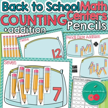 Back to School Math Center Counting to 20 and Addition