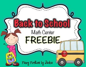 Back to School-Math Center- *FREEBIE*
