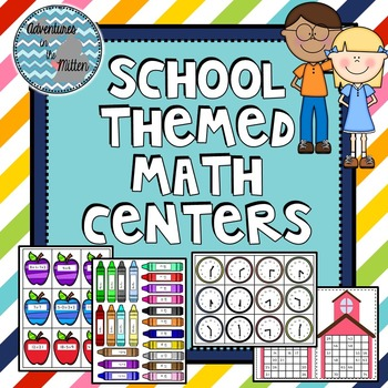 School Themed Math Centers