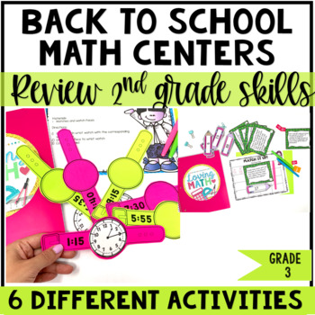 Back to School Math Centers 3rd Grade
