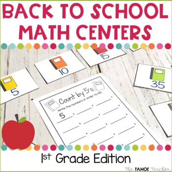 Back to School Math Centers for 1st Grade