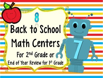 Beginning of Year Math Centers for 2nd Grade (Or EOY Revie