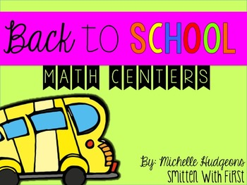Back to School Math Centers {with numbers to 20}