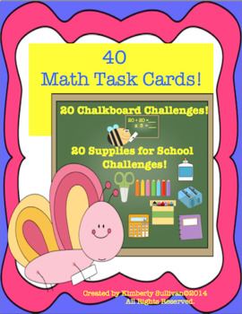 Math Task Cards Add Subtract Multiply Divide