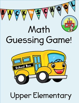Back to School Math (Getting-to-Know-You)