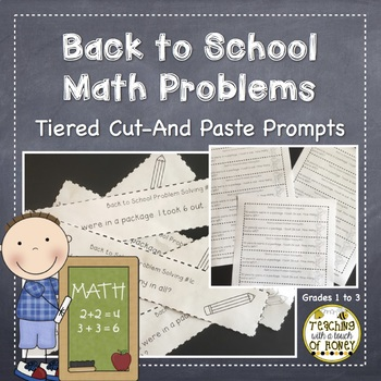 Back to School Math Journal: 25 Tiered Problem Solving Prompts