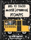 Back to School Math Journal
