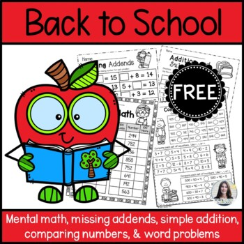 Back to School Math Freebie