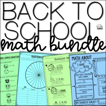 Back to School Math Resources Bundle