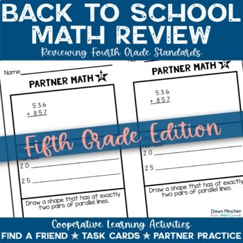 Back to School: Math Review of Grade 4 Concepts for 5th Gr