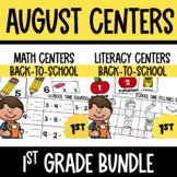 Back-to-School  Math and Literacy Centers Bundle