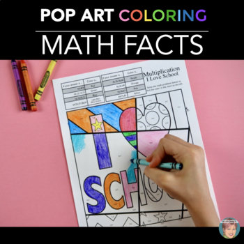 First Week of School Math Coloring Pages