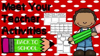 Back to School Meet Your Teacher Activities