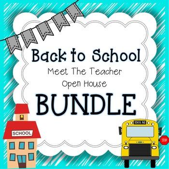 {Back to School} Meet the Teacher & Open House BUNDLE