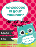 Back to School Meet the Teacher Pack Owl