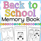 Back to School Activities Memory Book