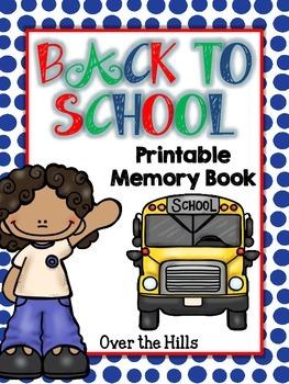 Back to School Memory Book (Grades 1-5)