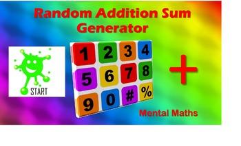 Back to School. Mental Math Random Sum Generators