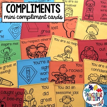Back to School; Mini Compliment Cards
