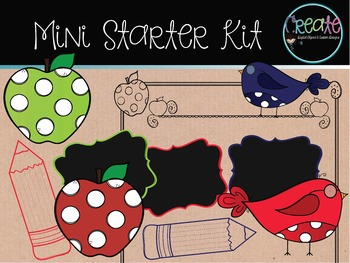 Back to School - Mini Starter Kit - Digital Clipart