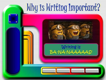 """Back to School Minions Themed """"Why is Writing Important?"""" Lesson"""