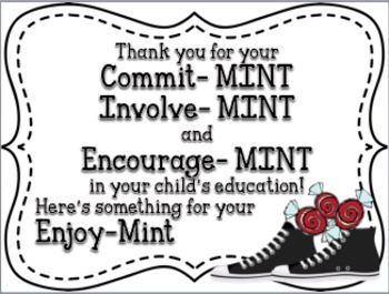 Back to School Mint Sign Freebie