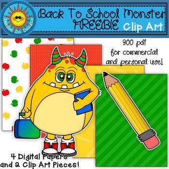 Back to School Monster Clip Art FREEBIE!