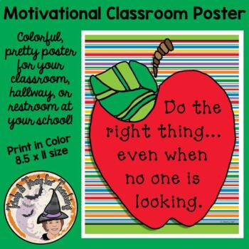 Back to School Motivational Saying Class Poster Do the Rig