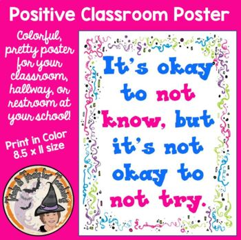Back to School Motivational Quote Classroom Poster Door Si