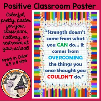 Back to School Motivational Quotation about STRENGTH Poster