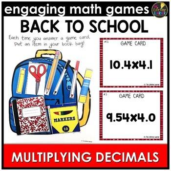 Back to School Multiplying Decimals