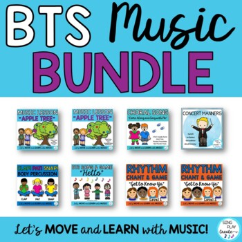 Music Class Lessons Bundle of Songs, Games, and Printables