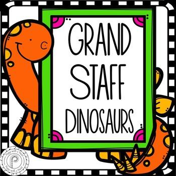 Back to School Music Game: Grand Staff Dinosaurs