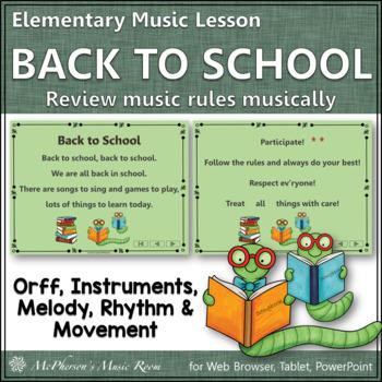 Back to School (Music Time): Orff, Rhythm, Melody, Instrum