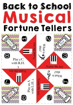 Back to School Music Treat: Printable Fortune Tellers