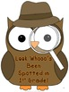 Back to School Owl Mystery Theme Bulletin Board for 1st Grade