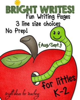 Back to School: NO PREP Writing Pack {Aug./Sept.}