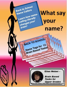 Back to School Name Callers - Tags and Tasks to Propel New Terms