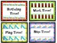 Back to School Name Tags, Transition & Holiday Cards