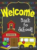 Back to School Night Folder