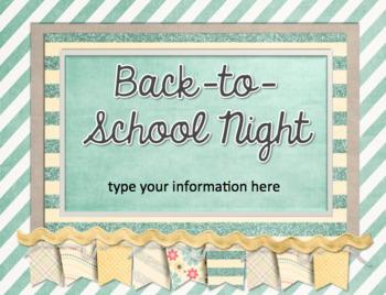Back to School Night Presentation