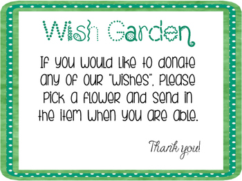 Back to School Night Wish garden