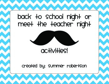 Back to School Night or Meet the Teacher Night Mustache Th