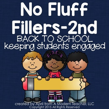 Back to School No Fluff Fillers 2nd Grade