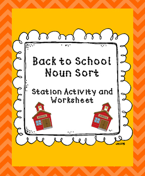Back to School Noun Sort