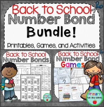 Back to School Number Bonds Bundle